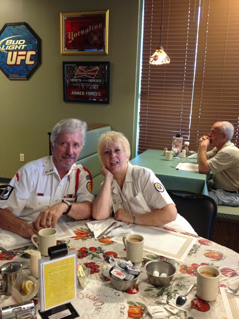 Breakfast at Papa's Place - National Commander Ernie Stetz and wife Ursula